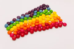 Candy rainbow. On white background stock photography