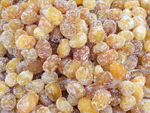 Candy raisin. Background with candy raisin and sugar royalty free stock photos