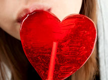 Candy red heart Royalty Free Stock Photo