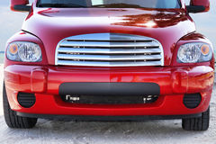Candy Red Vehicle, Front View Stock Image