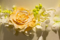 Candy rose on a cake Stock Photography