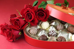 Candy and Roses royalty free stock images