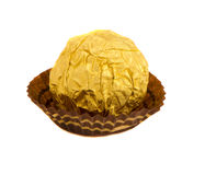 Candy  round sweet wrapped gold foil Royalty Free Stock Photo