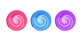 Candy round swirl vector illustration, lollypop icon stock photography