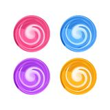 Candy round swirl vector illustration, lollypop icon royalty free stock photography