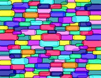 Candy´s wall. Wall of transparent bricks experimental art Vector Illustration