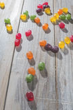 Candy scattered Royalty Free Stock Photography
