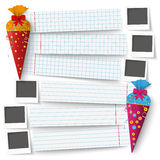 2 Candy School Paper Banners Photos Stock Photography