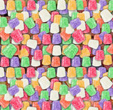 Candy seamless background colorful gumdrops. Sugared candy gumdrops textured seamless wallpaper stock image