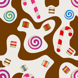 Candy seamless background Royalty Free Stock Image