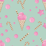 Candy  seamless pattern background Stock Images