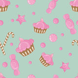 Candy seamless pattern background Stock Photos