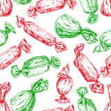 Candy seamless pattern in hand drawn style. Vector  back Royalty Free Stock Photo