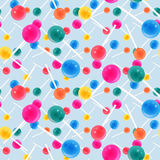 Candy seamless pattern Stock Photos