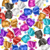Candy seamless  pattern. Sweet illustration. Royalty Free Stock Photography