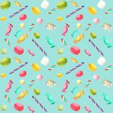 Candy seamless pattern Stock Image