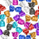 Candy seamless vector pattern. Sweet illustration. Royalty Free Stock Photography