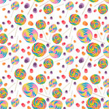 Candy Seamless Wallpaper Background stock photos