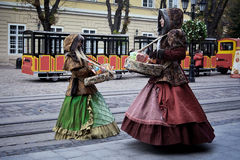 Candy sellers in Lviv Royalty Free Stock Images