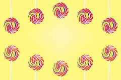 Candy Set of colorful on background. stock images