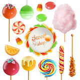 Candy set. 3d vector icon Stock Images