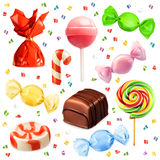 Candy set, vector icons Royalty Free Stock Images