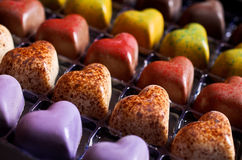 Candy in the shape of a heart Stock Images
