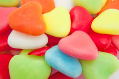 Candy in shape of hearts royalty free stock photos
