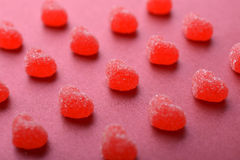 Candy in shape of hearts Royalty Free Stock Image