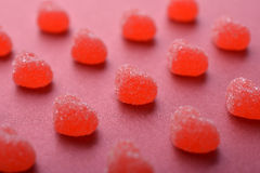 Candy in shape of hearts Royalty Free Stock Images