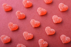 Candy in shape of hearts Stock Photos
