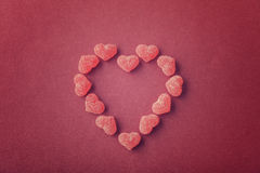 Candy in shape of hearts Royalty Free Stock Photo