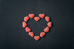 Candy in shape of hearts Stock Photography