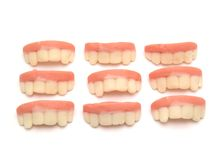 Candy shaped teeth Royalty Free Stock Images