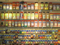 Candy shelves Stock Photos
