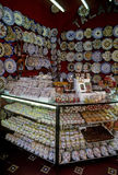 Candy shop. Downtown Puebla a typical candy shop with delightful candies and traditional talavera dishes stock photography