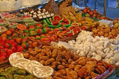 Candy shop. Original candy shop of a Venetian fair royalty free stock image
