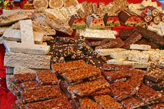 Candy shop. Original candy shop of a Venetian fair Stock Photos