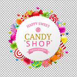 Candy Shop Banner. With Gradient Mesh, Vector Illustration vector illustration