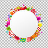 Candy Shop Banner. With Gradient Mesh, Vector Illustration Stock Photography