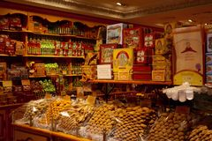 Candy shop in Barcelona Stock Images