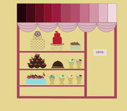 Candy shop Stock Images