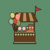 Candy shop card Stock Photography