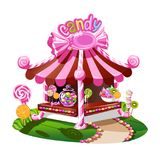 Candy shop with a cheerful decor royalty free illustration