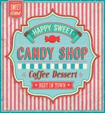 Candy shop. Candy shop happy sweet. Vector illustration Stock Image
