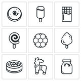 Candy Shop Icons Royalty Free Stock Photos