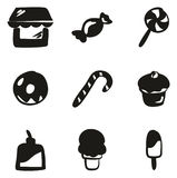 Candy Shop Icons Freehand Fill Stock Photo
