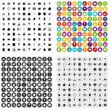 100 candy shop icons set vector variant. 100 candy shop icons set vector in 4 variant for any web design isolated on white Stock Photos