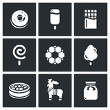 Candy Shop Icons. Vector Illustration Royalty Free Stock Image