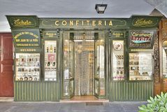 Candy Shop in Jaca Royalty Free Stock Images